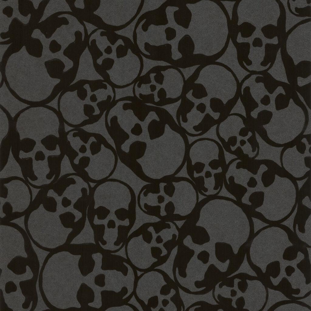 black wallpaper skulls wallpaper graham amp brown