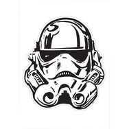 Star Wars Stormtrooper hele gezicht Maxi Sticker, , large