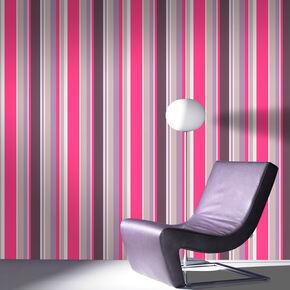 Rico Stripe Hot Pink Wallpaper, , large