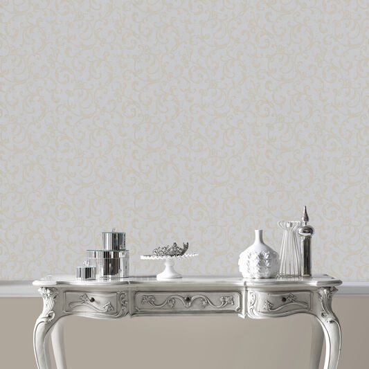 Enchantment Silver and Grey Wallpaper, , large