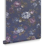 Muse French Navy Wallpaper, , large