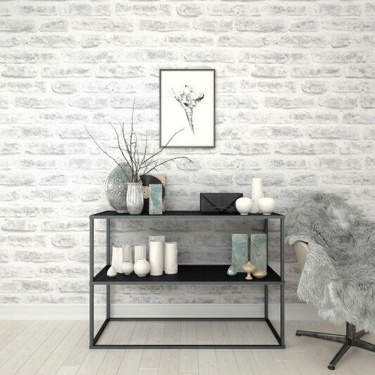 White Realistic Brick Wallpaper Grahambrownuk