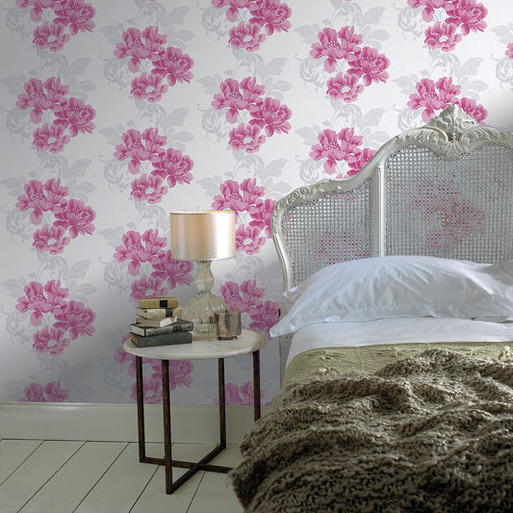 Pink And Purple Wallpaper For A Bedroom Laurence Llewelyn Bowen Wallpaper Graham Brown