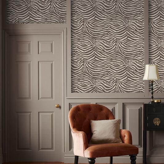 zebra brown and beige wallpaper graham brown. Black Bedroom Furniture Sets. Home Design Ideas