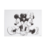 Mickey & Minnie Sketch Sitting Canvas, , large