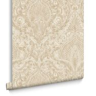 Burlesque Cream and Gold Wallpaper, , large