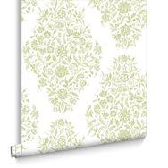 Floribunda Soft Green Wallpaper, , large