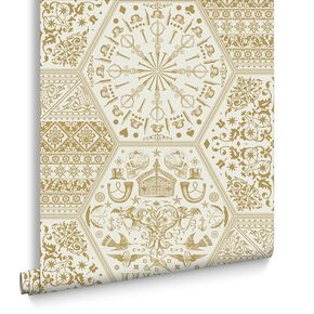 World Heritage Gold Wallpaper, , large