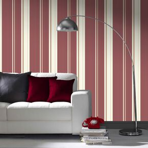 Large Gradient Stripe Red Wallpaper
