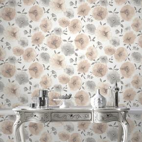 Poppies Natural Wallpaper, , large
