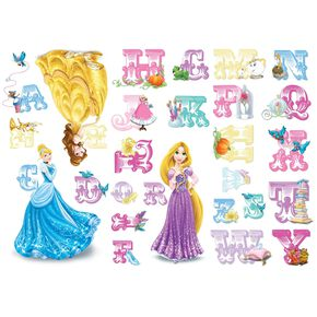 Princess Alphabet Stickers, , large