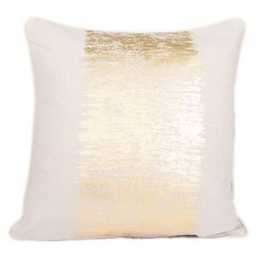 Gold Metallic Crackle Cushion, , large