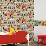 Mickey Vintage Episode Multi-coloured Wallpaper, , large