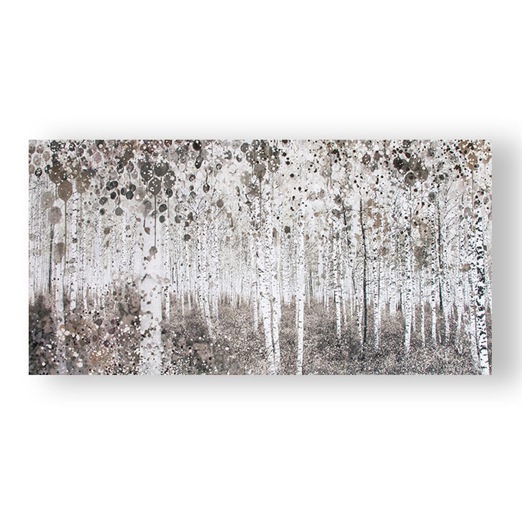 Yosemite Home Decor Neutral Watercolour Woods Printed Canvas Grahambrownuk