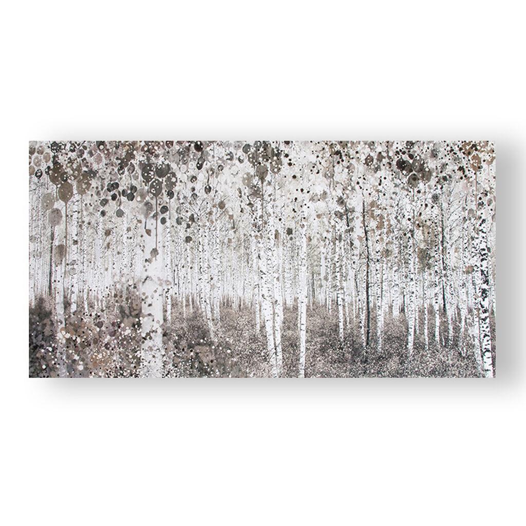 Neutral Watercolour Woods Printed Canvas Grahambrownuk