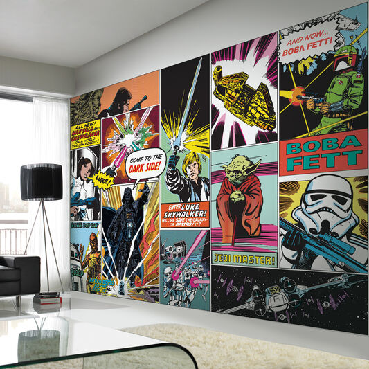 Digitales wandbild star wars graham brown - Star wars wandbild ...