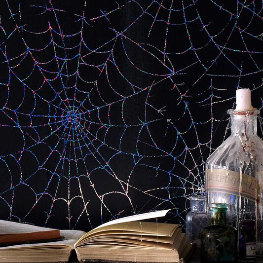 Cobweb Moonlight Wallpaper, , large