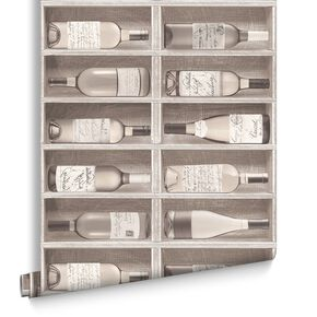 Fresco Wine Bottles Wallpaper, , large