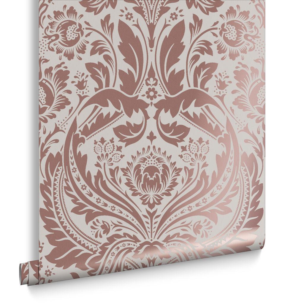 Pink Damask Wallpaper Bedroom Damask Wallpaper Designs Graham Brown