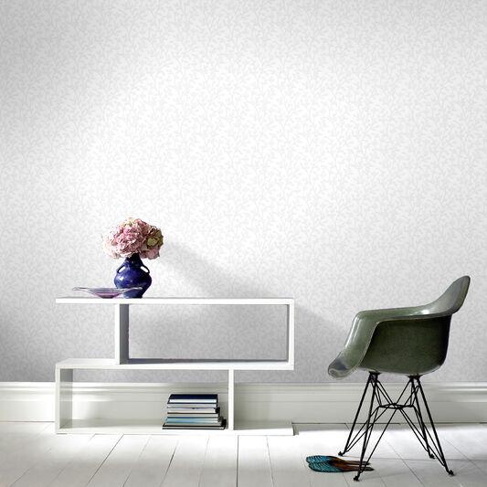 Boho White Wallpaper, , large