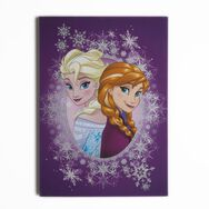 Frozen Anna and Elsa Glitter Printed Canvas, , large