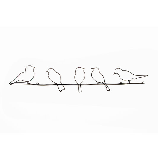 d co murale m tal oiseaux perch s sur un fil graham brown. Black Bedroom Furniture Sets. Home Design Ideas