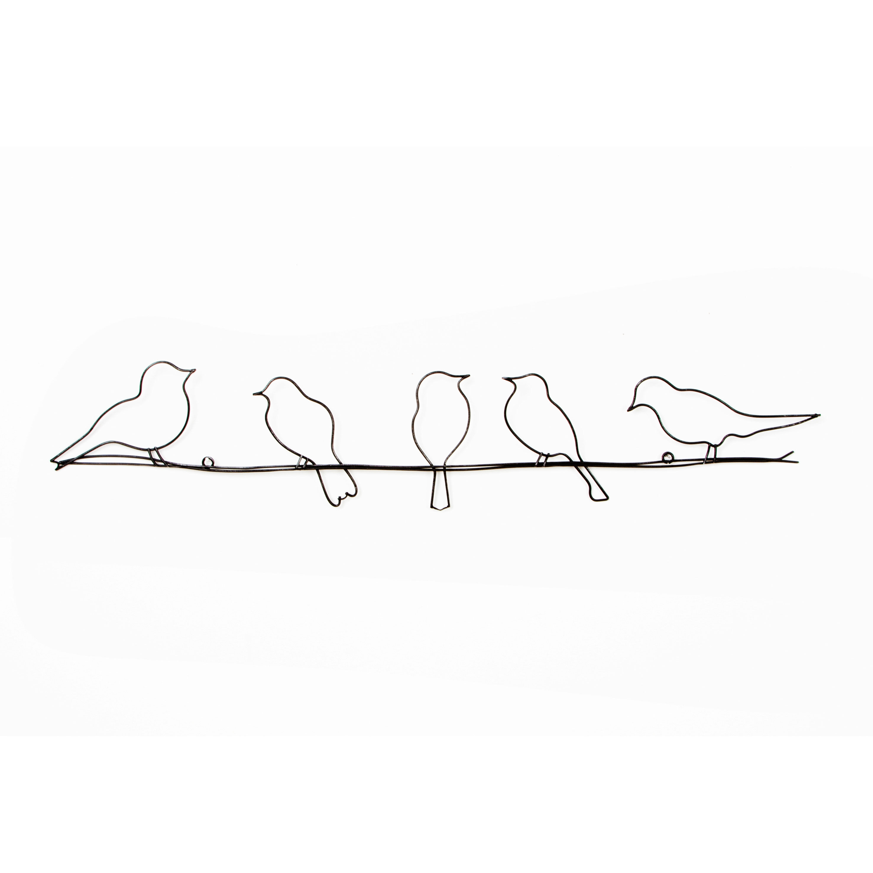 Birds On A Wire Metal Wall Art, ...