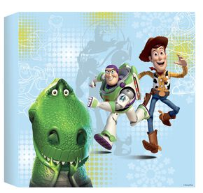 Toy Story Bedrukt canvas 30 x 30 cm, , large