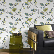 Folklore Green Wallpaper, , large
