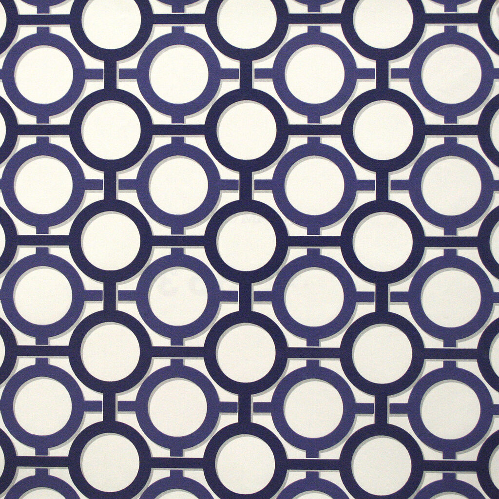 Enigma White and Prussian Blue Wallpaper