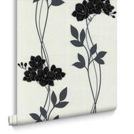Serene Black and White Wallpaper, , large