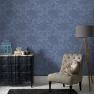 Jacquard Denim Wallpaper, , large