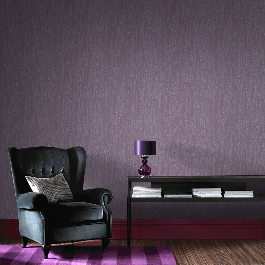 Crushed silk purple graham brown for Purple and grey wallpaper