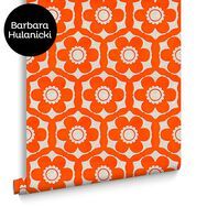 Funky Flora Tangerine Dream Wallpaper, , large