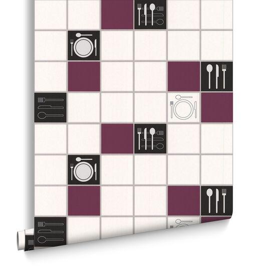 Dinner Time Plum Wallpaper, , large
