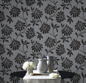 Ophelia Charcoal Wallpaper, , large