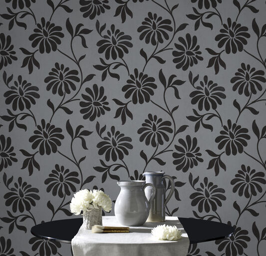 Ophelia Charcoal Wallpaper, , large