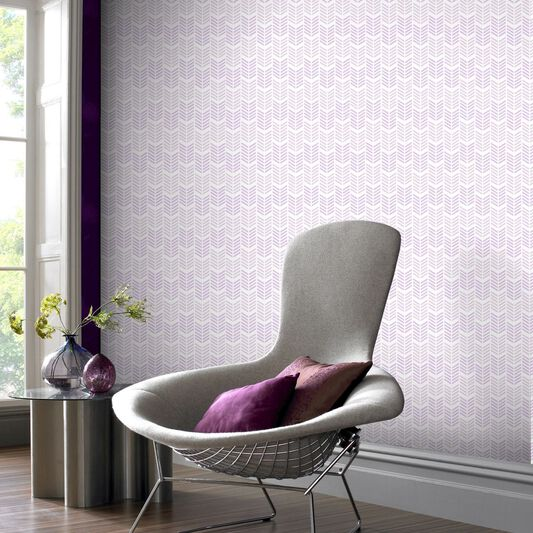 Oiti Gris Mauve Wallpaper - Grahambrownau