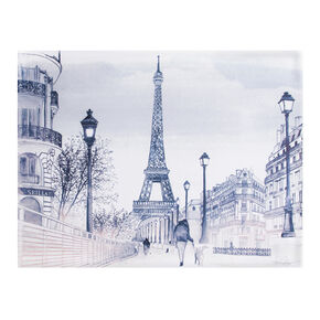 Parisian Street Watercolour Printed Canvas, , large