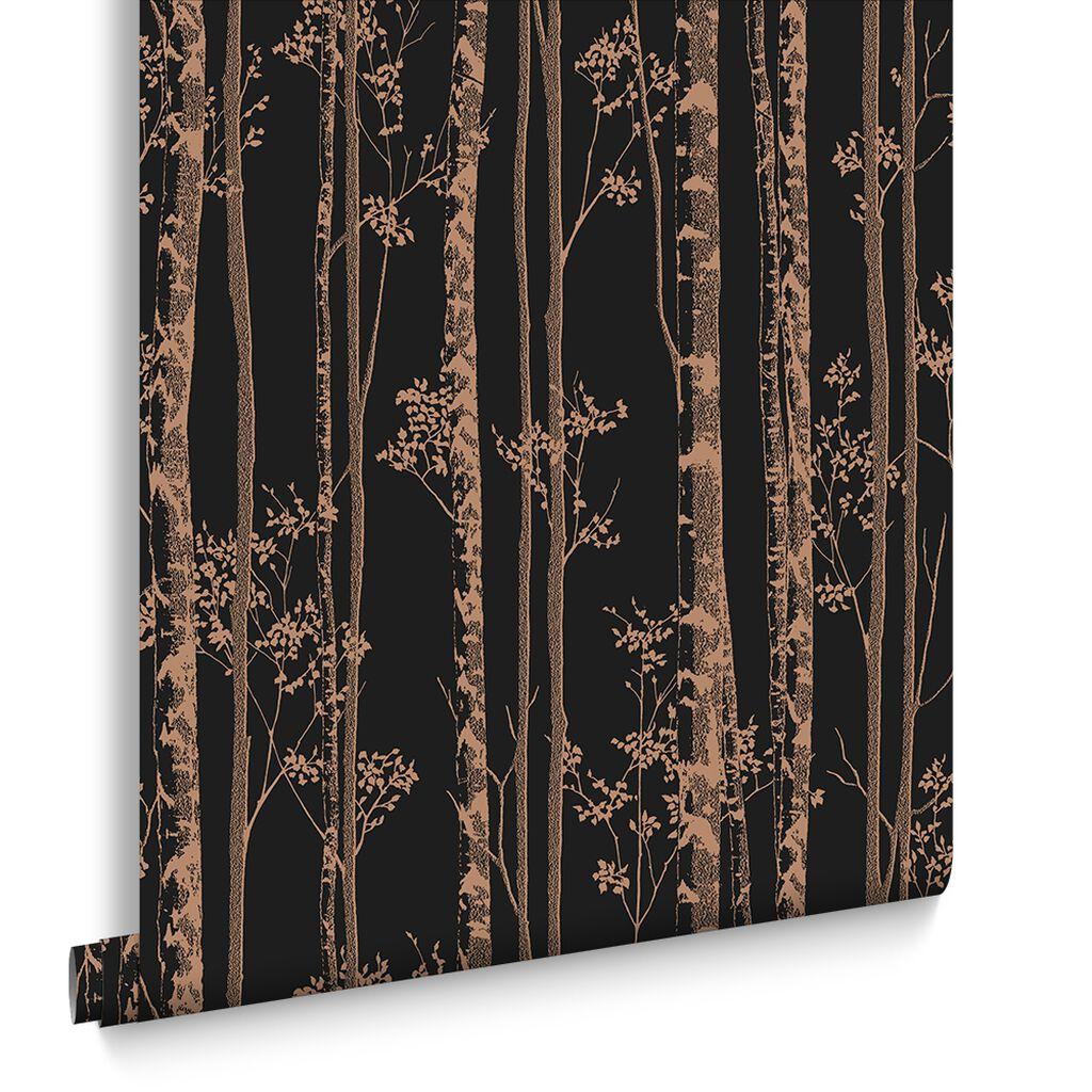 linden black and copper wallpaper graham brown. Black Bedroom Furniture Sets. Home Design Ideas