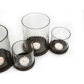 Gothic Glass Candle Holder, , large