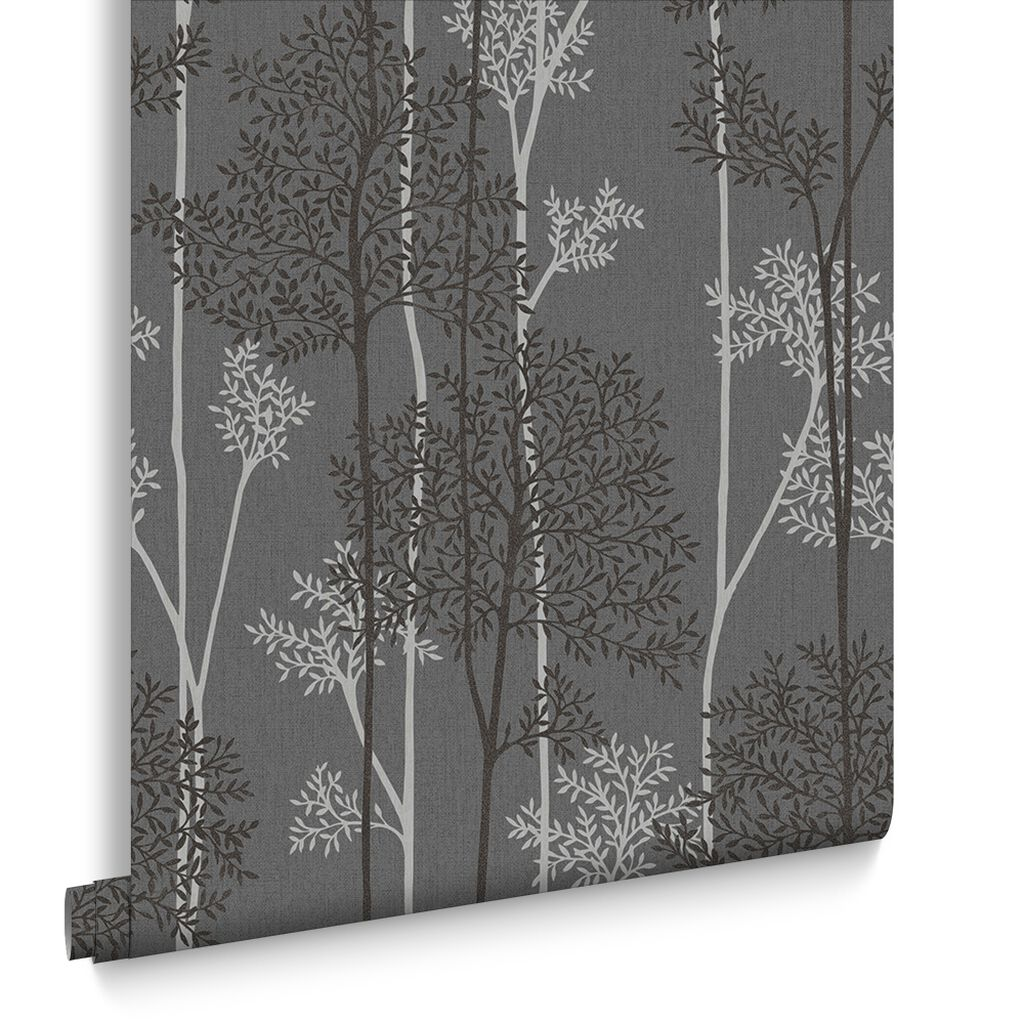 Eternal Charcoal And Silver Wallpaper,