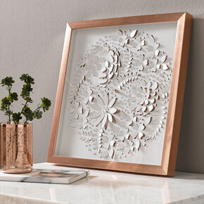 Rose Gold Petals Framed Art, , large