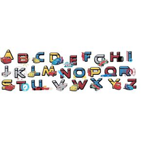 Cars Alphabet Stickers, , large