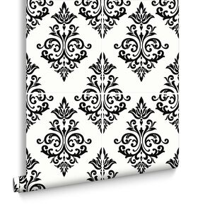 Pallade Black and White Wallpaper, , large