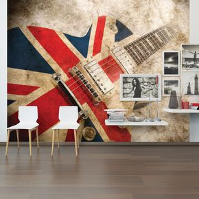 Rock Guitar Wall Mural, , large