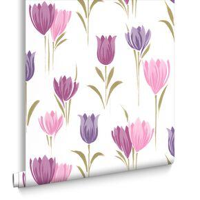 Tulip Plum Wallpaper, , large