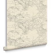 Map Cream Wallpaper, , large