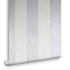Water Silk Stripe Silver Wallpaper, , large