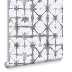 Indigo Grey Behang, , large